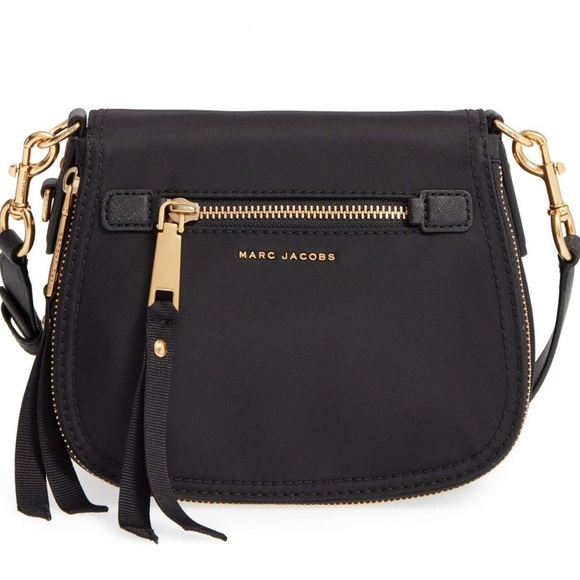 6c552eb5cfed Marc Jacobs Black Trooper Nylon Saddle Bag